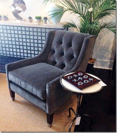 grey velvet tufted chairs