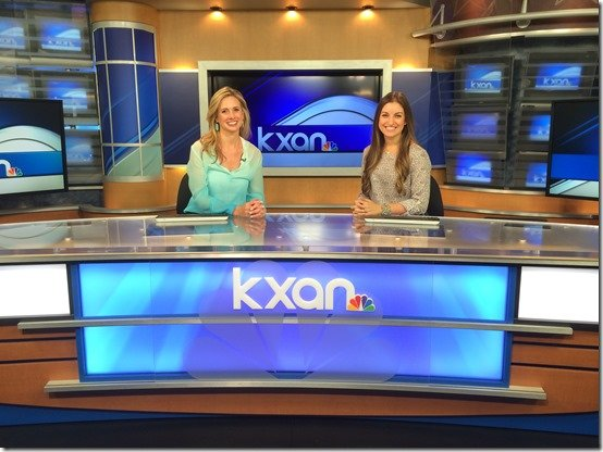 heather and nikki at kxan studios