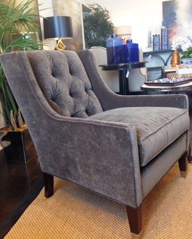 Save. The Velvet Tufted Chairs Are Upholstered ...