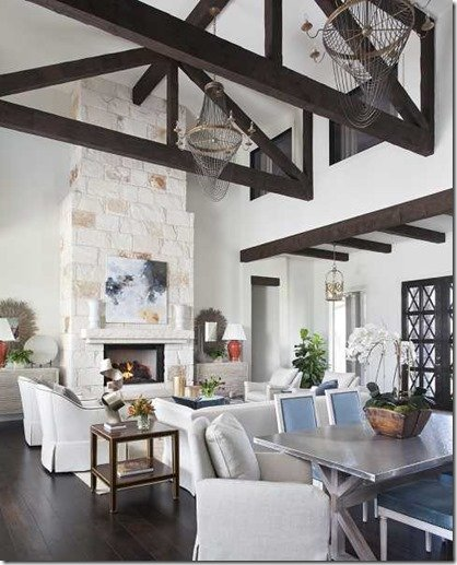 living room beams