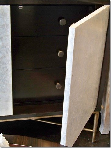 3 drawers storage behind capiz door