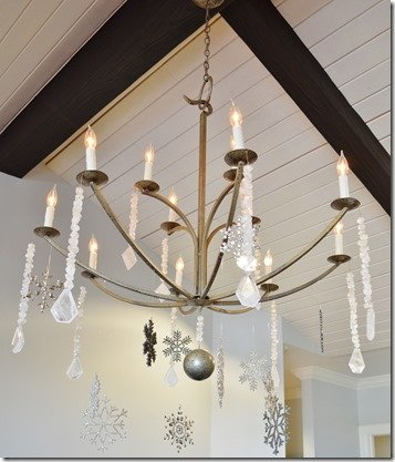chandelier with ornaments