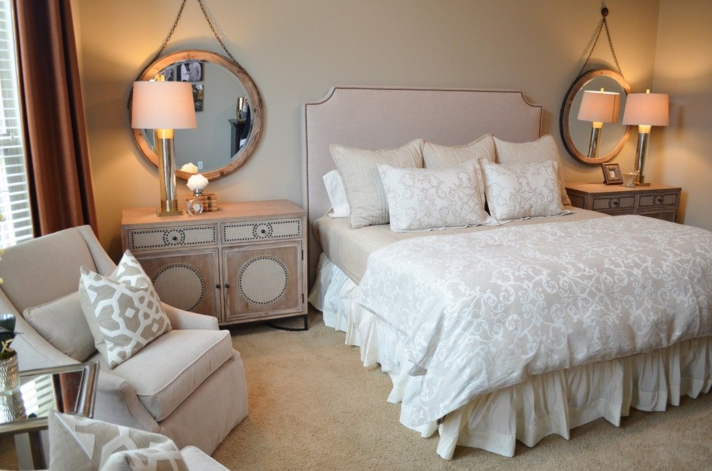 Before & After: A Neutral, Serene Bedroom - Heather Scott ... on Mirrors Next To Bed  id=55022