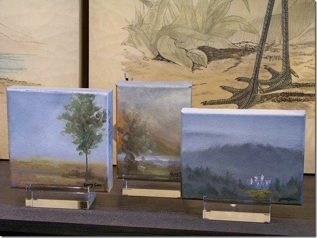 misty tree canvas paintings