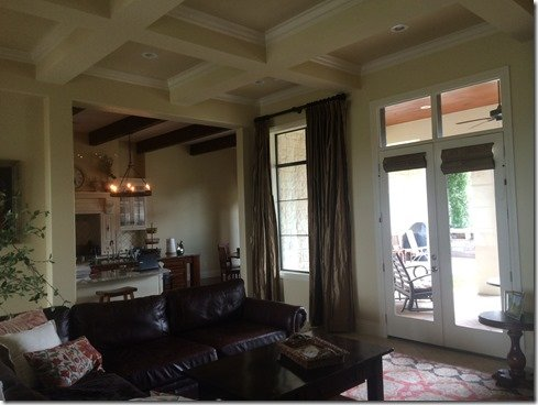 santa barbara family room before view to patio