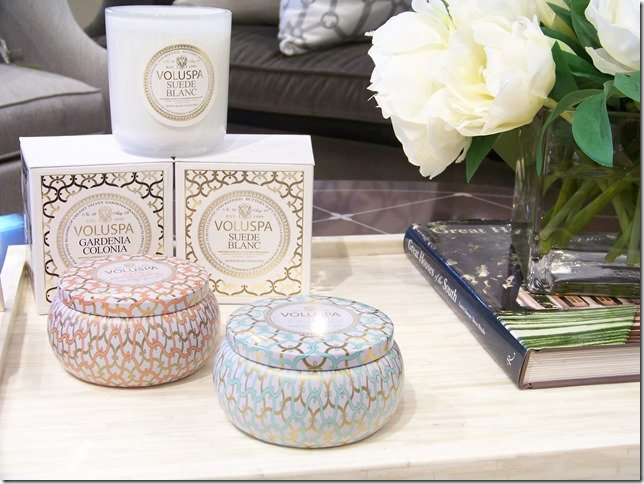 Voluspa candles, tins