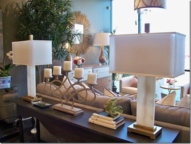 pair of alabaster lamps