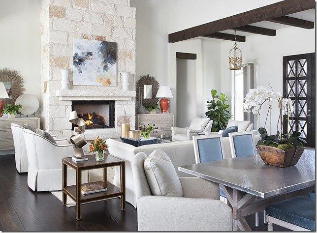 Heather Scott Home & Design, Living Room with Orchid Tofu Bucket