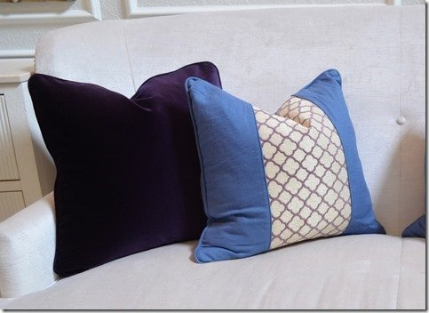 close up of pillows
