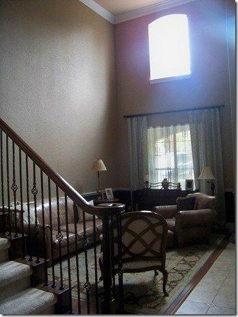 living room before, full