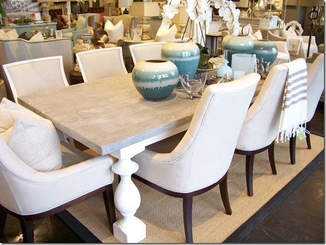 grey wash dining table-108""