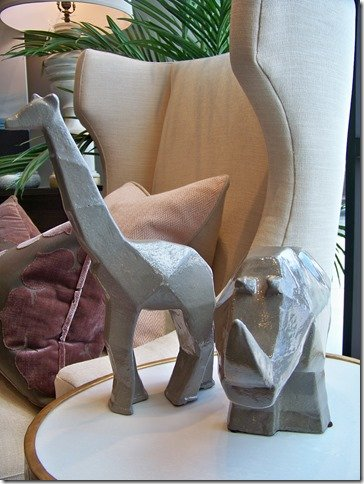 rhino and giraffe decor