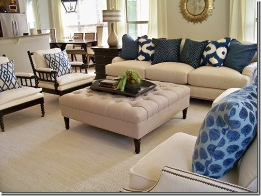 english arm sofa with accent pillows