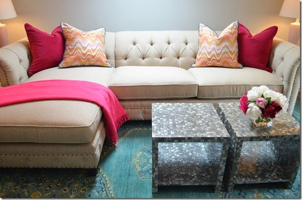 tufted back sectional