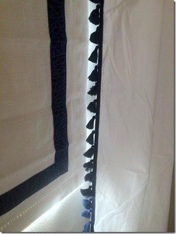 drapery detail in nursery