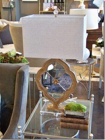 mercury glass ornament lamp