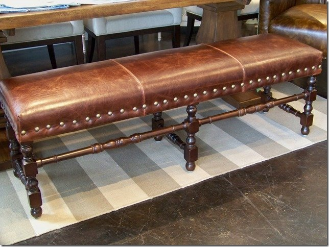 Geniune Leather Bench