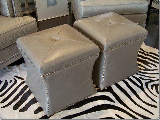 grey cube storage leather ottoman