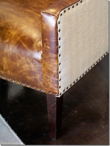 Close up of leather chairs