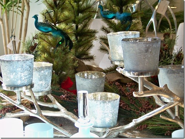 Silver Branch Candleholder