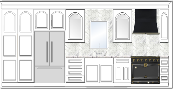 kitchen layout, proposal