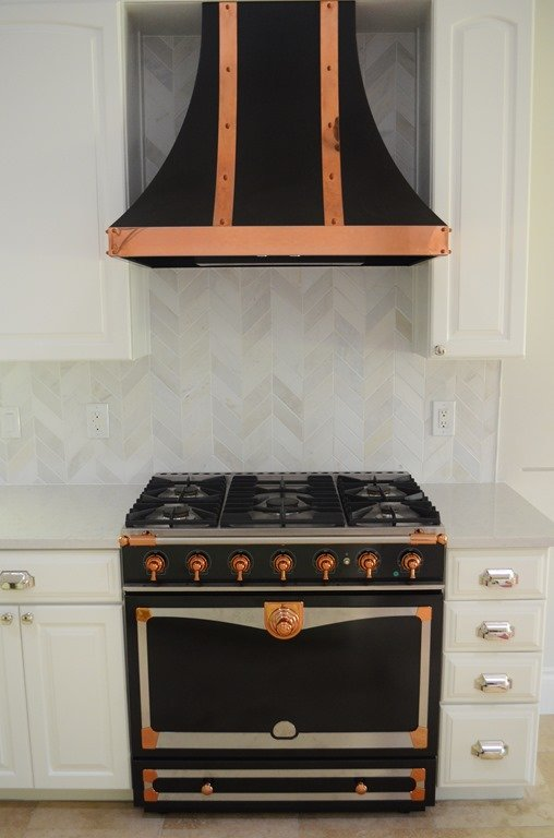 Before Amp After Kitchen With Black Amp Copper Stove