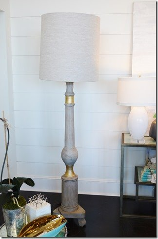 floor lamp with gold band