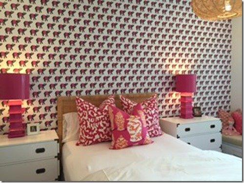 hot pink girls room