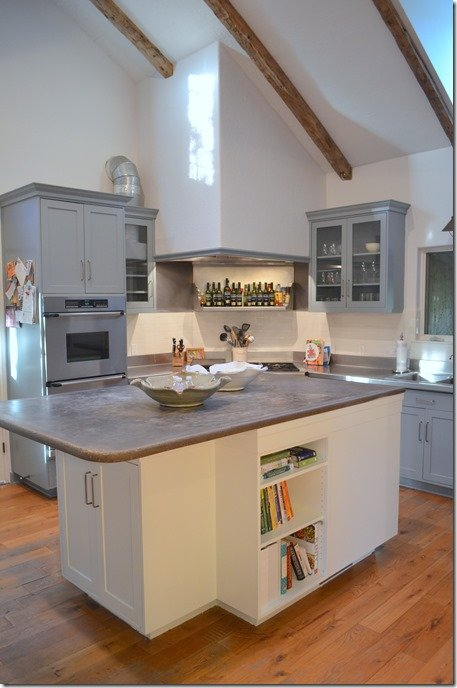 kitchen after, island