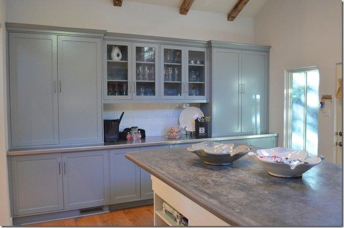 kitchen after, storage area