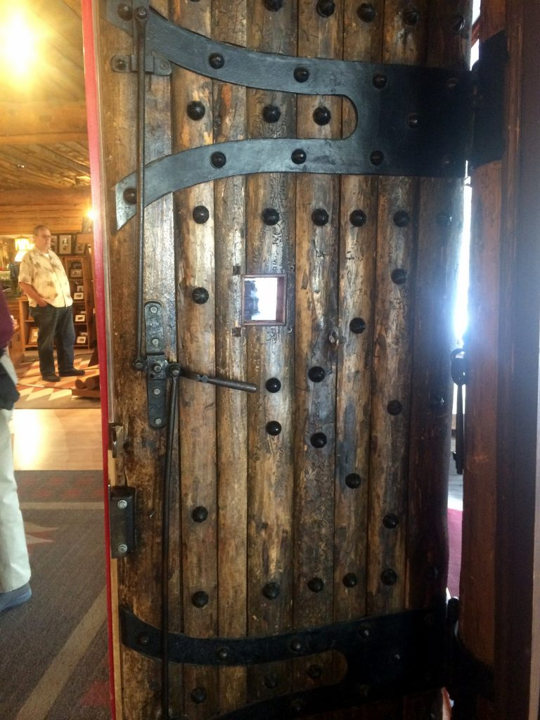 old faithful inn front door (interior)