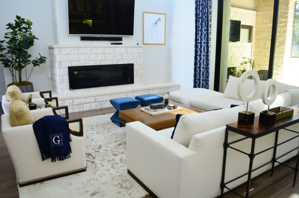Before After A Sophisticated Masculine Living Room Heather